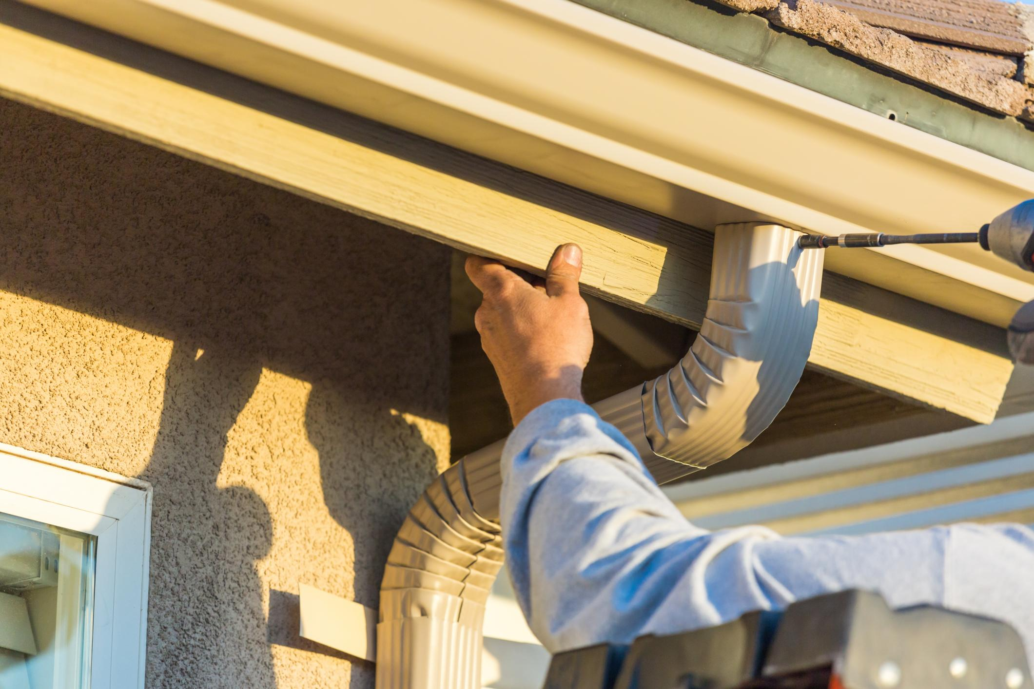 This is a picture of a gutters and downspouts service.
