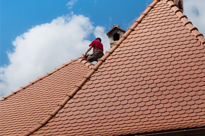 This is a picture of a residential roof repair.