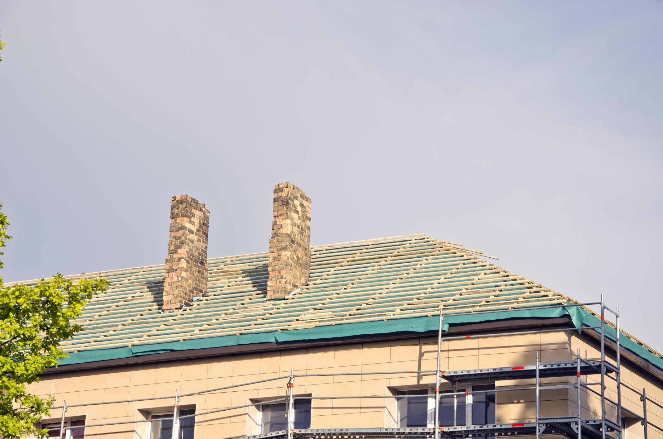 This is a picture of a roof replacement service.
