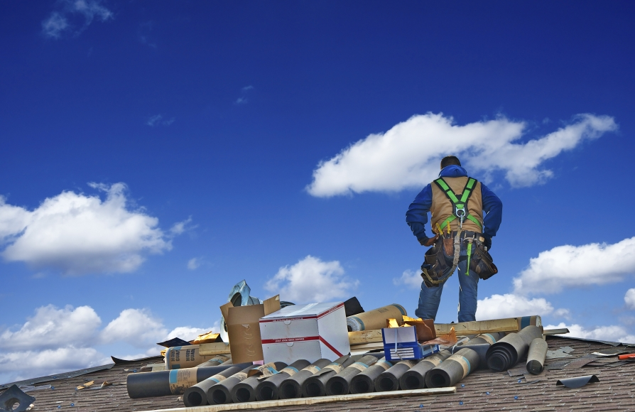 This is a picture of a Roseville roofer services.
